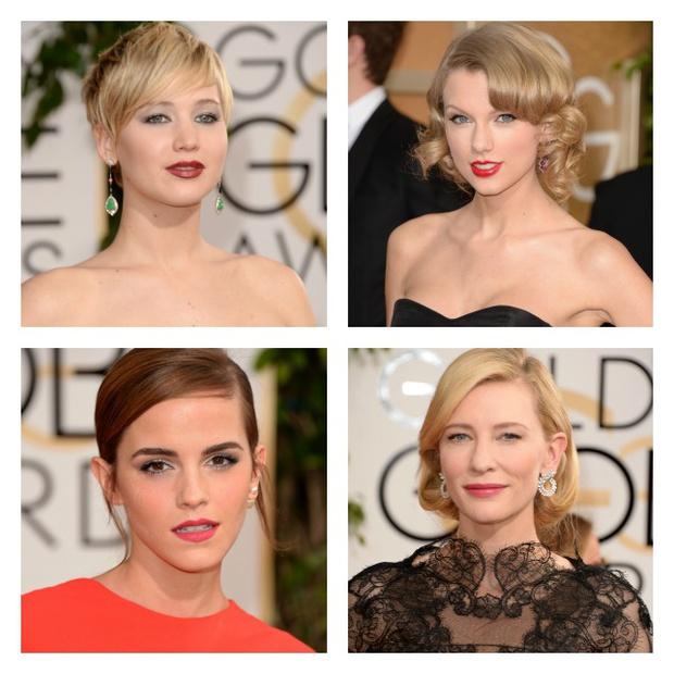 Maquillajes y peinados en los Globos de Oro