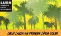 anuncio de los protectores solares naturales de Lush