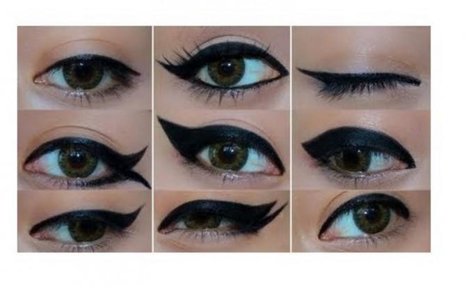 diferentes tipos de delineado de ojos