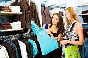 personal shopper con cliente