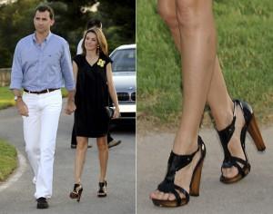 letizia con zapatos de tacón