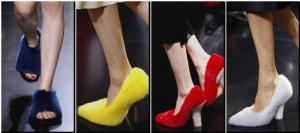 zapatos peludos céline