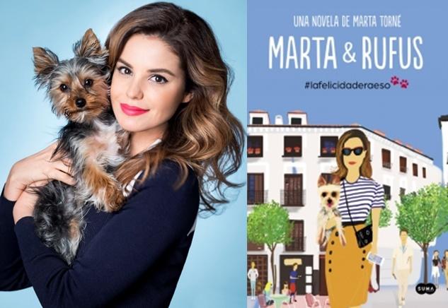 Marta Torné le dedica su primera novela a su perro Rufus