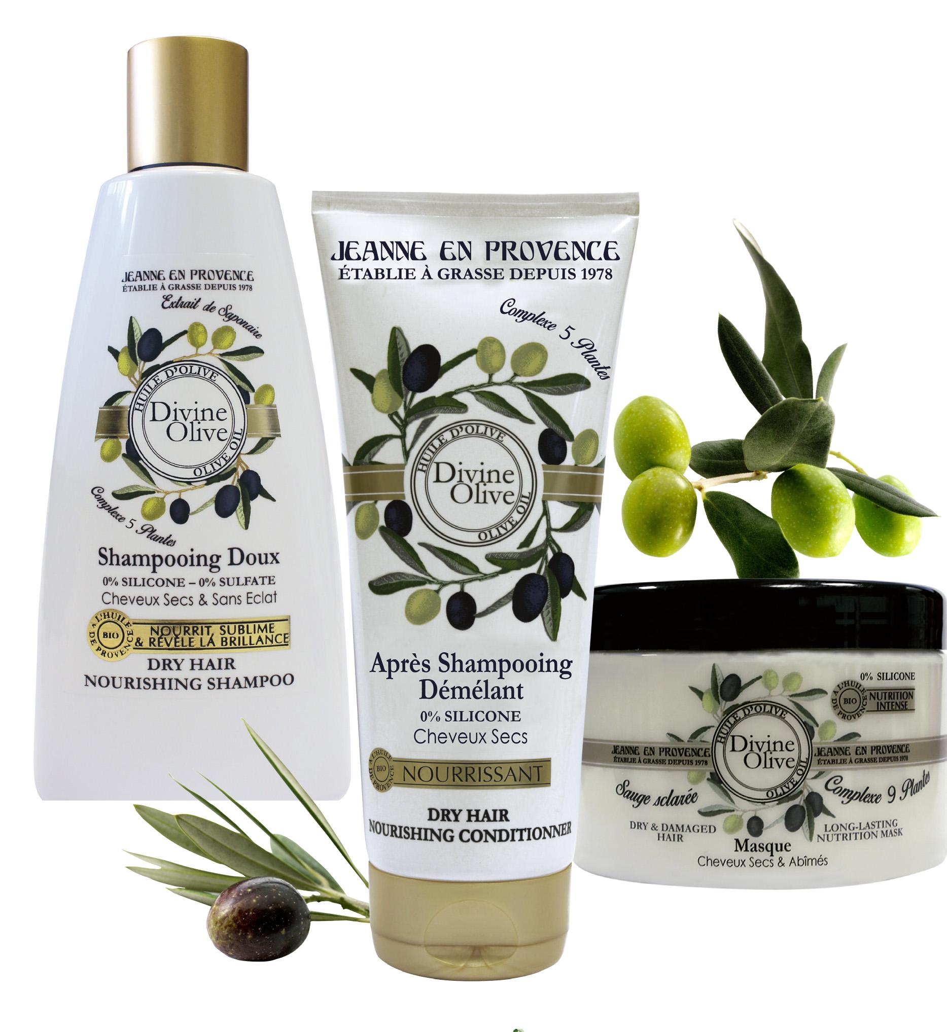 Jeanne en Provence presenta Divine Olive para el cuidado del cabello